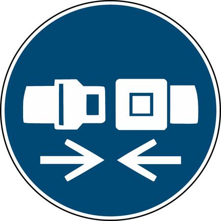 wear safety belt sign - mandatory sign iso 7010
