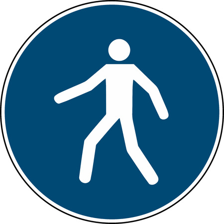 use this walkway - mandatory sign din 7010