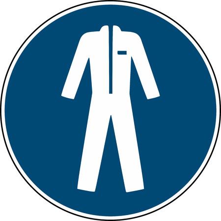 Wear protective clothing sign - mandatory sign Vektorové ilustrace