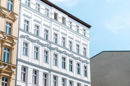 house facade, apartment building exterior - real estate