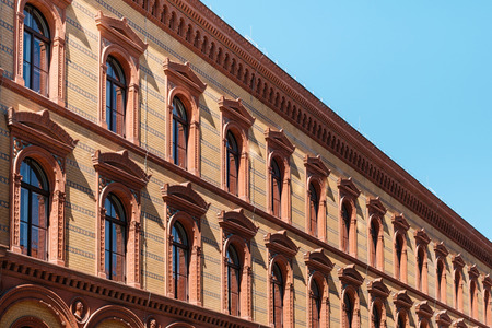 historic building  facade,  historical exterior of the Postfuhramt, Berlin - 版權商用圖片