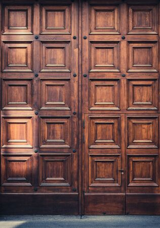 massive wooden door entrance  - big wood gate