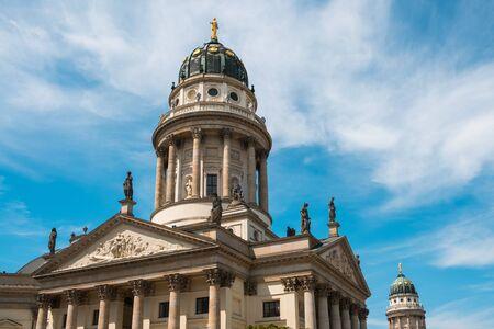 The german dome at Gendarmenmarkt in Berlin Stock Photo