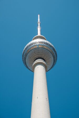 The Berlin Television tower (Fernsehturm) in Berlin, Germany