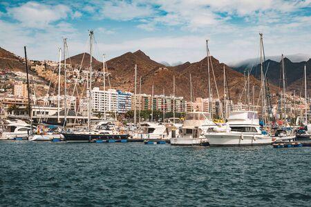 Sailing boats, motorboats and yachts Harbor