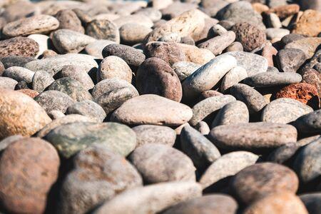 stones closeup on pebble stone beach - pebbles macro Reklamní fotografie