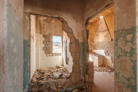 inside destroyed home  house ruin  - 写真素材