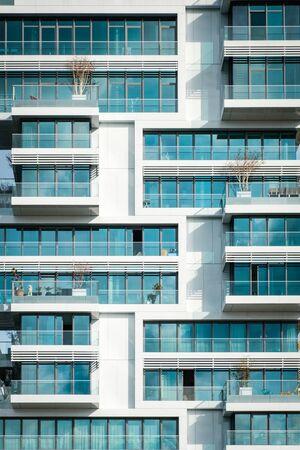 modern apartment building - real estate exterior -