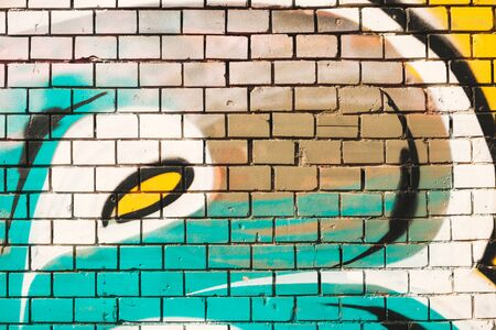 graffiti wall background, colorful painted wall detail
