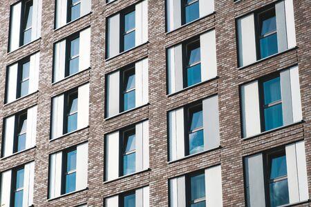 windows on hotel building facade or office building exterior 写真素材