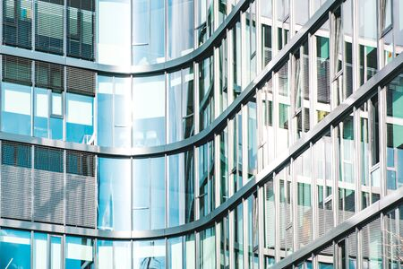 glass facade of modern office building - abstract business background 写真素材
