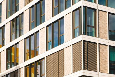 modern office building facade, commercial real estate exterior