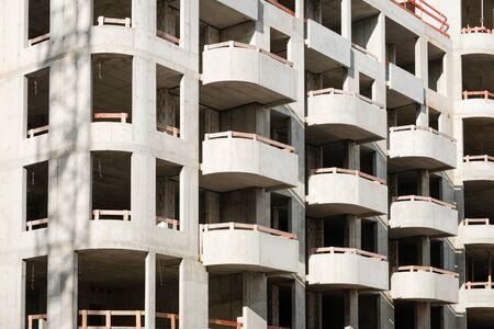 new apartment building under construction - real estate development 写真素材