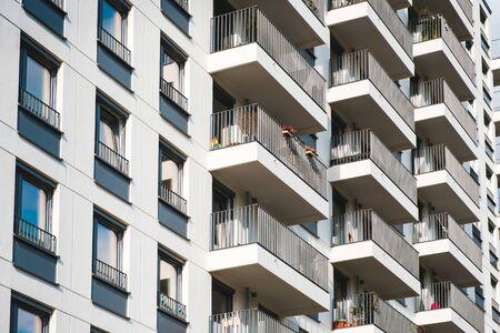 building facade -  modern apartment  house exterior -