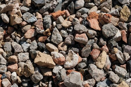 mixed stones for construction material  -