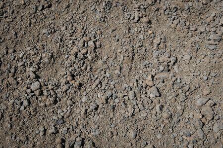 gravel and construction sand closeup -