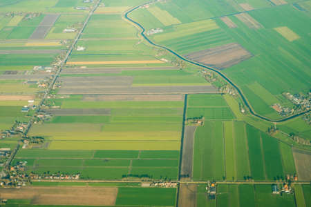 aerial landscape view of agricultural fields in Holland