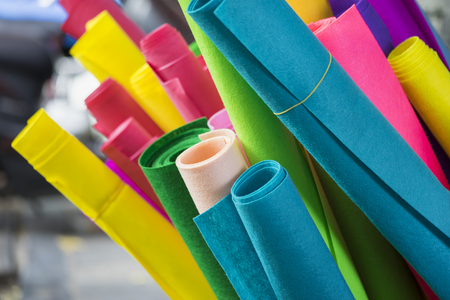 colorful paper rolls Stock Photo
