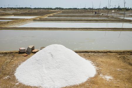 Sea salt produced on farm in Asia