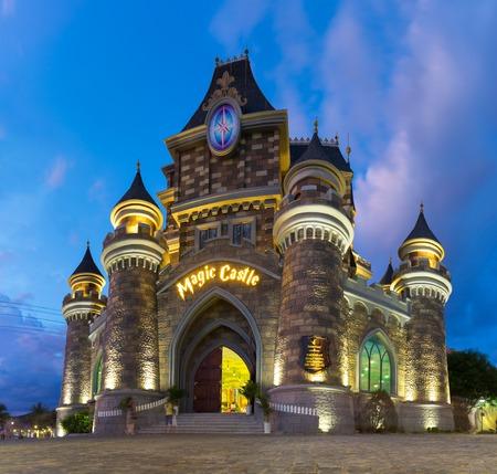 Nha Trang, Vietnam - July 31, 2016: Children playhouse castle in Vinpearl Land, Hon Tre island Editorial