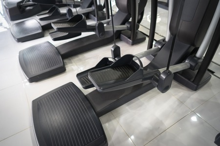Stepper closeup in gym 写真素材