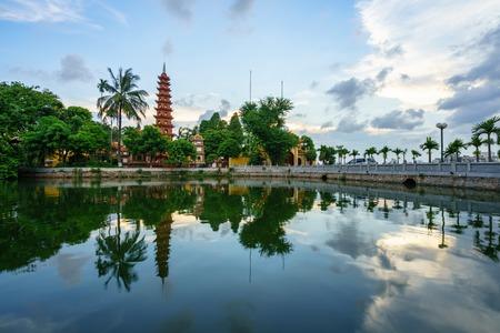 Tran Quoc pagoda, the oldest temple in Hanoi, Vietnam