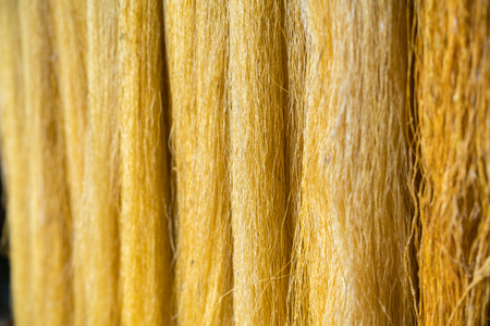 Raw silk thread made from pure cocoon of silkworm