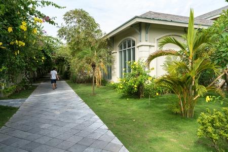 Villa path way at the tropical resort