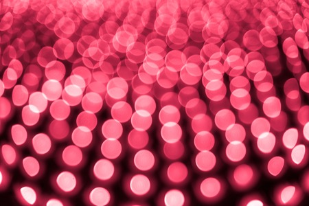 Abstract bokeh background. Soft defocused lights. Neon basic red color