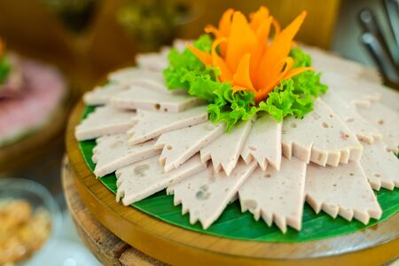 Boiled lean pork paste, traditional Vietnamese food