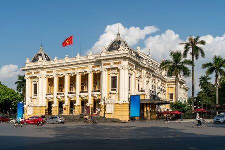 French built Hanoi Opera House in Hanoi Stockfoto