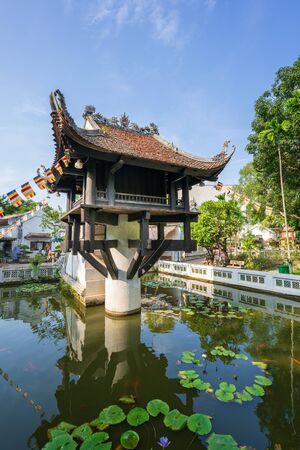 Einsäulenpagode, die oft als Symbol für Hanoi in Hanoi, Vietnam, verwendet wird