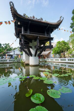 One Pillar pagoda, often used as a symbol for Hanoi, in Hanoi, Vietnam 免版税图像