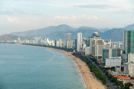Nha Trang coastal city, with the famous and beautiful beaches and bays in Vietnam