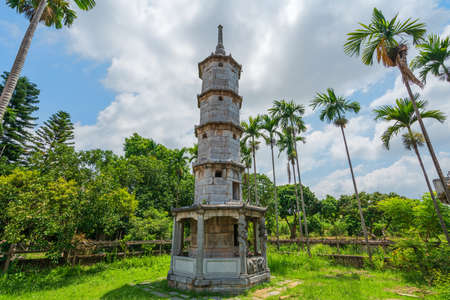 Brush shaped tower at But Thap pagoda, the old temple found in 1037 in Thuan Thanh, Bac Ninh, Vietnam.