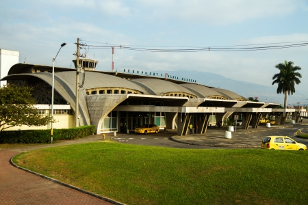 medellin: Passenger entrance of the Olaya Herrera Airport in Medellin Editorial