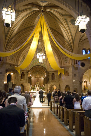 Wedding in a Catholic Church
