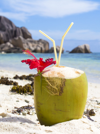 ladigue: Tropical Coconut Drink at the Beach