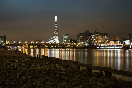 pebles: View from the River Thames to the Shard