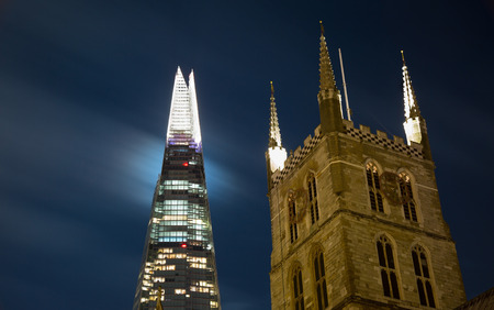 southwark: The Shard and Southwark Cathedral by Night