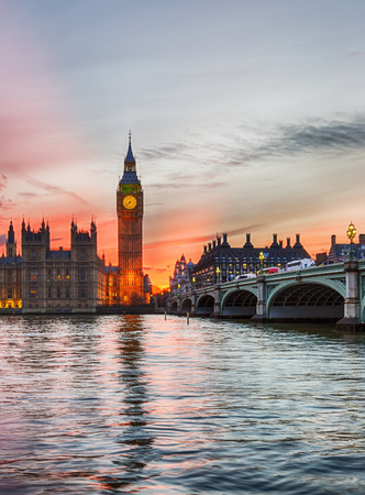 city of westminster: Sunset over the City of Westminster in London, United Kingdom