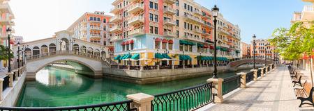 Qanat Quartier at the Pearl in Doha, Qatar