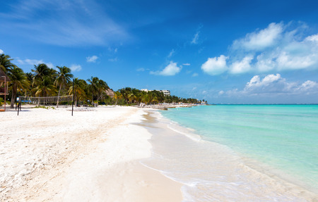 Panorama of North Beach on Isla Mujeres, Yucatan, Mexico