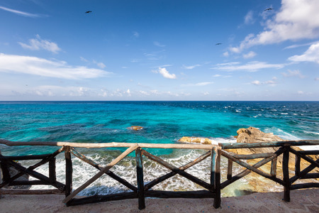 View from the Cliff of the Dawn Acantilado del Amanecer on Isla Mujeres, Mexico