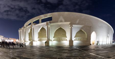 カタール・ドーハのイルミネーション文化センターカタラ