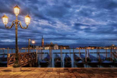 View to San Giorgio Maggiore in Venice, Italy, on a moody morning