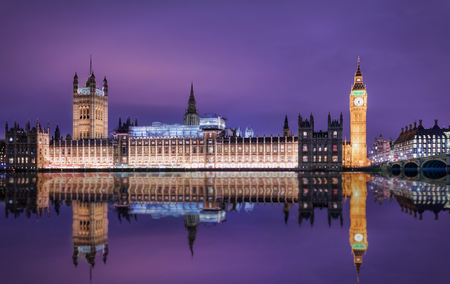 Big Ben and Westminster Parliament in London, United Kingdom, by night