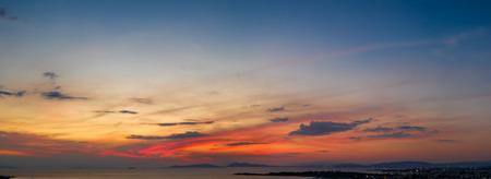 Cloudy sky after a summer sunset over Reklamní fotografie