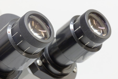 ocular: Close-up of microscope ocular
