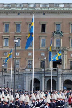 royal wedding: STOCKHOLM - JUN 13, 2015: The swedish royal castle before the wedding between the swedish Prince Carl-Philip Bernadotte and his wife Princess Sofia Hellqvist